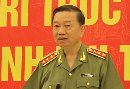 Thượng tướng Tô Lâm - Bộ trưởng Công an.
