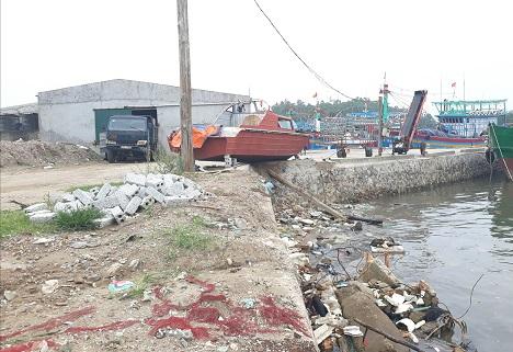 Công trình cầu cảng và nhà máy đá của công ty Hoàng Hải không chỉ sai phạm về đất đai, xây dựng mà còn làm ảnh hưởng, ô nhiễm môi trường biển.