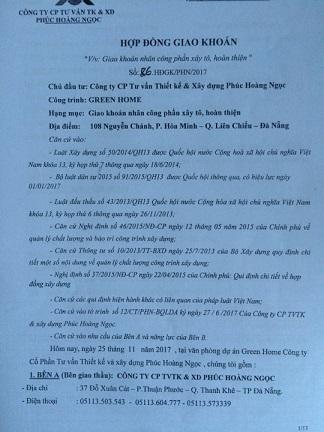 Hợp đồng giao khoán số 86 HĐGK/PHN/2017. Ảnh: TÂM CHÍNH