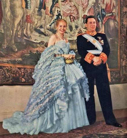 Perón và Evita. (Ảnh dẫn theo tistory.com)