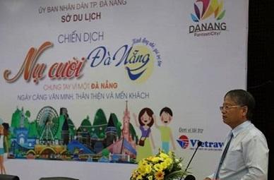 Ông Nguyễn Ngọc Tuấn, Phó Chủ tịch UBND TP Đà Nẵng phát biểu tại buổi họp báo.