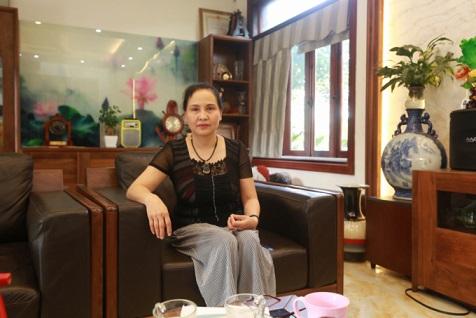 Bà Nguyễn Thị Minh Hiền vợ ông Trương Qúy Dương. Ảnh: ĐÌNH HUY